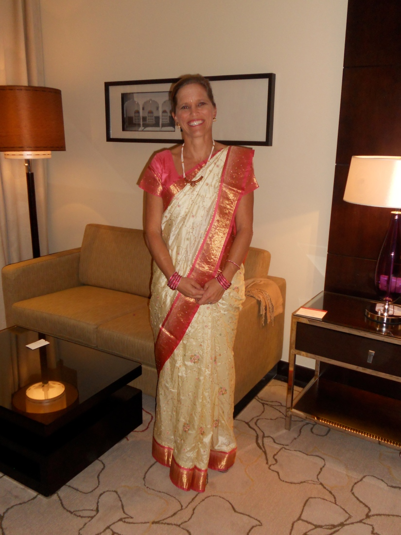 and me in my borrowed Saree...