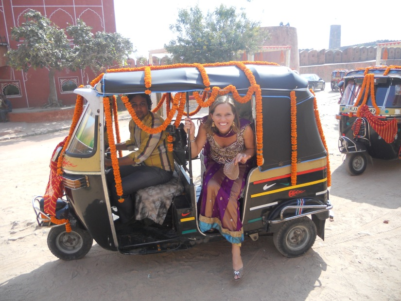 our personal autorickshaw ride into the fort