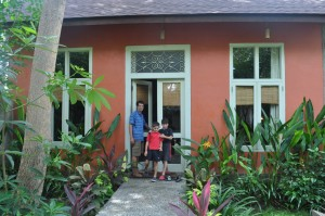 Here's our lovely villa at the Tugu Resorts - we had walls this time